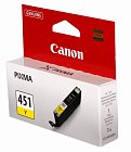 Картридж CANON CLI-451Y желтый для Pixma iP7240/MG6340/MG5440