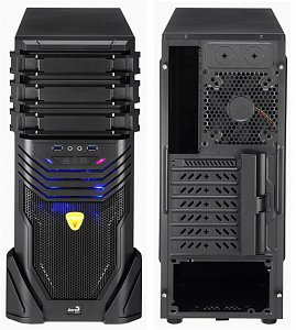 Корпус ATX AEROCOOL VS-3 Advance Miditower, без БП, черный
