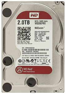 "Жесткий диск 2Tb WD Red WD20EFRX (HDD SATA III, 3.5"", 7200rpm, 64Mb) oem"