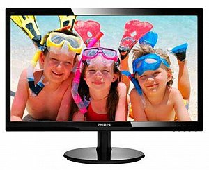 "23.6"" Монитор PHILIPS 246V5LSB черный (TN, 1920x1080, D-Sub, DVI)"
