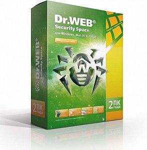 Брандмауэр Dr.Web Security Space 2 ПК на 2 года (BHW-B-24M-2-A3)