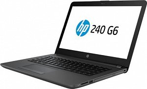 "Ноутбук HP 240 G6, 14"", i5 7200U, 8Gb, 256Gb SSD, HD Graphics 620, DVD-RW, DOS, 4BD05EA, ч"